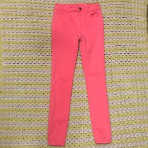 American Eagle neon pink skinny jeans size 2 GUC